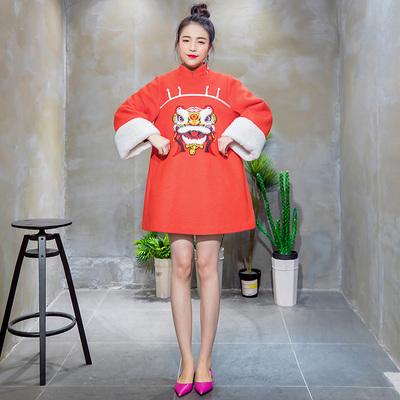 毛娃娃领连衣裙品牌旗舰店