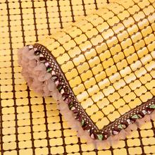 夏季沙发垫麻将坐垫夏天布艺冰丝防滑凉席巾罩套红木竹席凉垫定做
