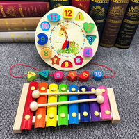 Young children baby hand knock on the piano 8 months baby puzzle music toy 1-2-3 years old octave small xylophone blocks