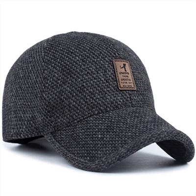 秋冬款皮帽子中老年男士帽子男式护耳保暖帽鸭舌帽老人帽棒球帽