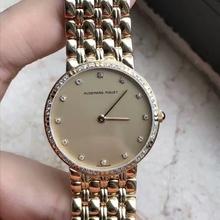 中古名品汇二手纯金表98新爱彼18K黄金钻石石英腕表手表 沪陪验货