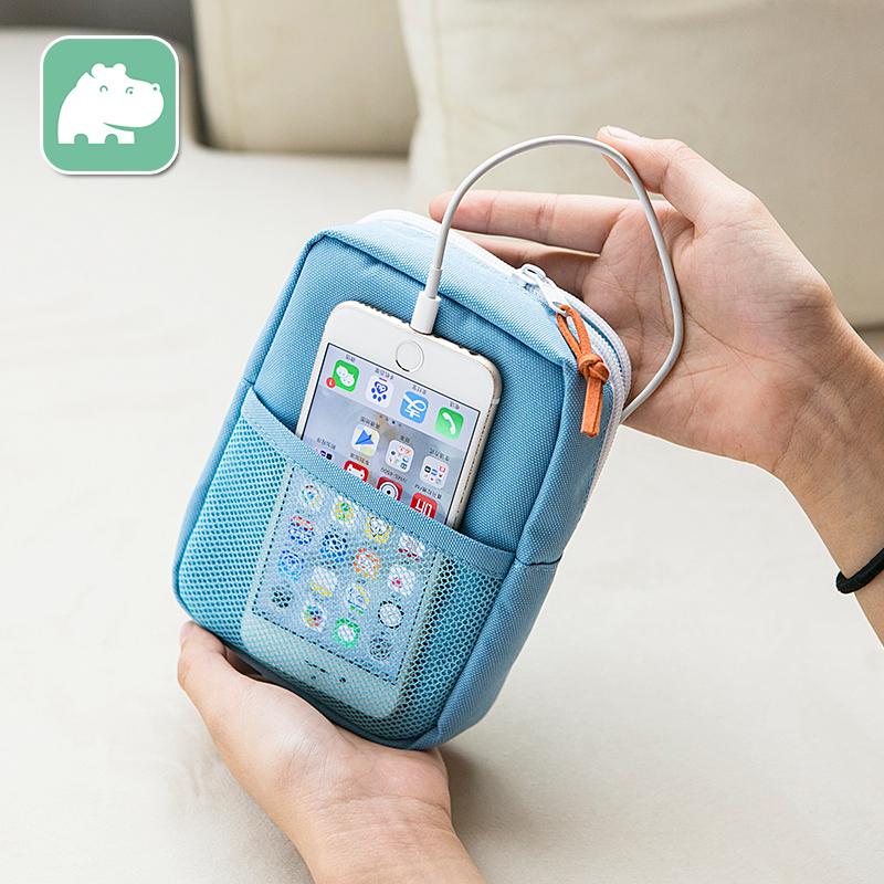便携手机包数码包充电器充电宝耳机收纳包硬盘配件包旅行随身小包图片