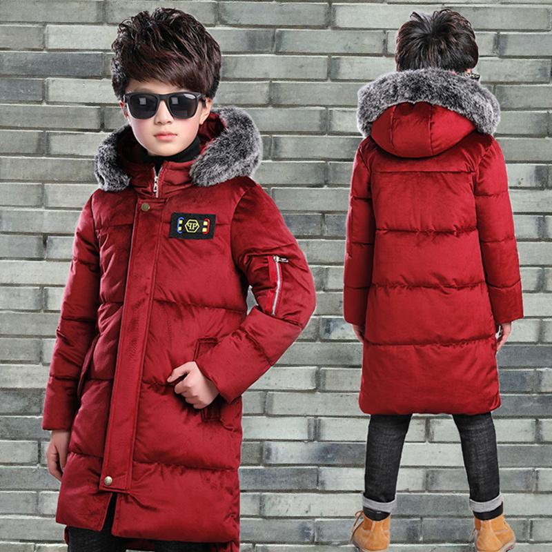 男童外套2018新款6儿童金丝绒棉袄7中大童羽绒棉服男孩冬装9-12岁