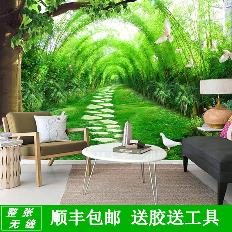 立体竹林墙纸