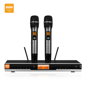 BBS H660家庭KTV麦克风家用无线话筒卡拉OK一拖二舞台会议主持UHF