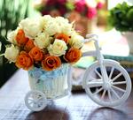 塑料假花盆栽小摆设餐桌冰箱上的摆件室内装饰品仿真花车塑胶花束