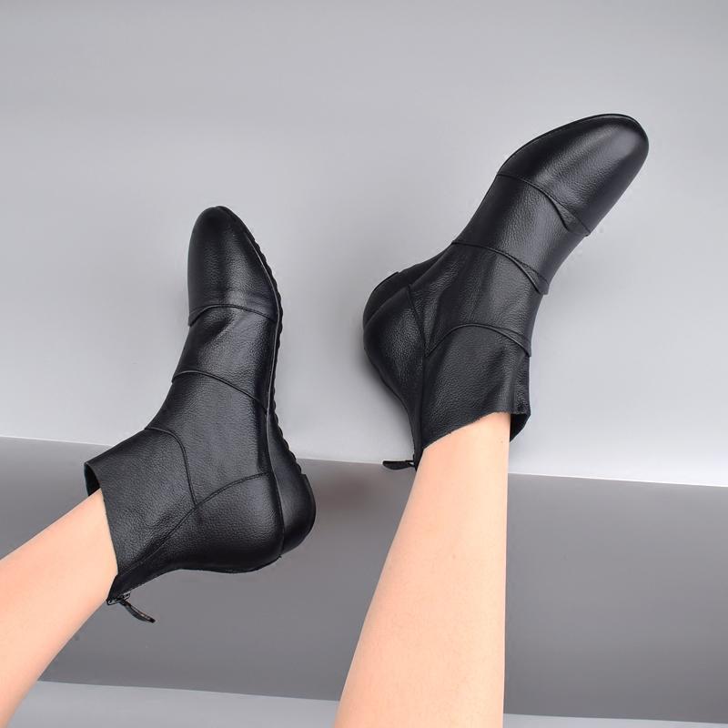 马丁靴短靴女真皮秋季