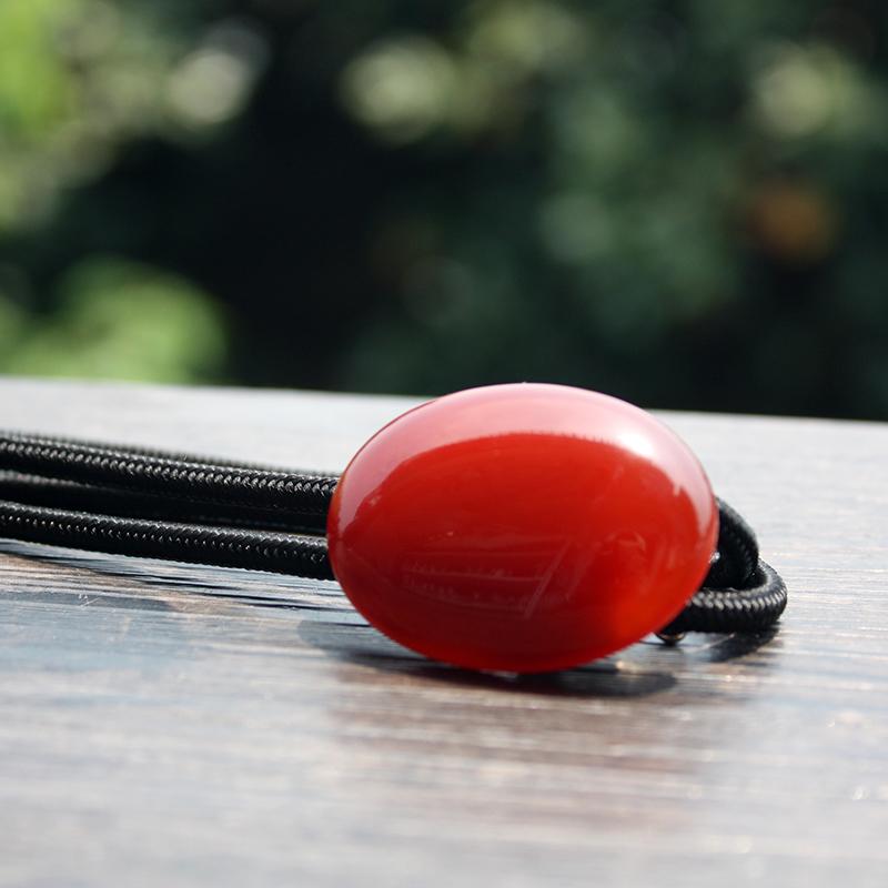 红色波洛领带男新郎结婚bolo tie女牛皮领绳日本复古红黑玛瑙两色