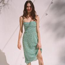 印花法式露背小碎花鱼尾吊带连衣裙度假女 Realisationpar风格 新款图片