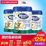 Hero Baby白金版 婴幼儿配方奶粉4段700g *3罐 原装进口 宝宝奶粉