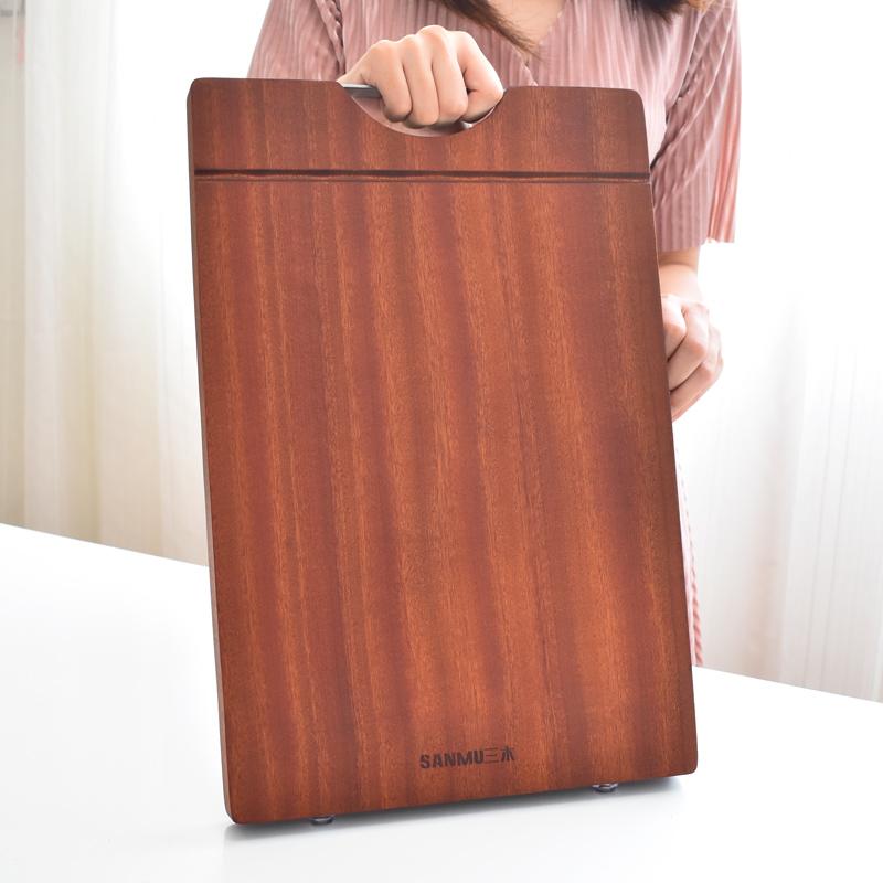 乌檀木菜板实木抗菌防霉厨房切菜板家用粘板整木砧板案板刀板占板