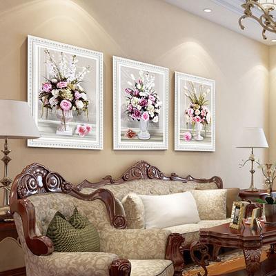 歐式5d鉆石畫滿鉆客廳三聯畫簡約現代貼鉆十字繡臥室點鉆石繡花卉哪個好