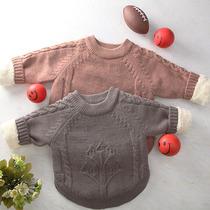 童装男女童加绒加厚毛衣012345岁秋冬儿童宝宝线衣婴儿外套打底衫