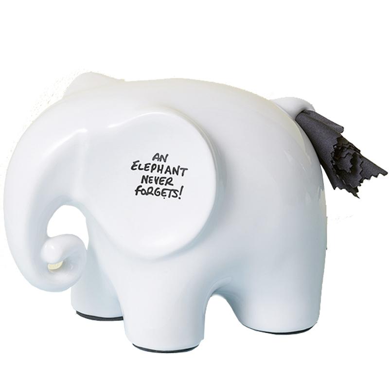 英国Luckies可擦试记事大象Memo Elephant陶瓷立体式备忘架便签座