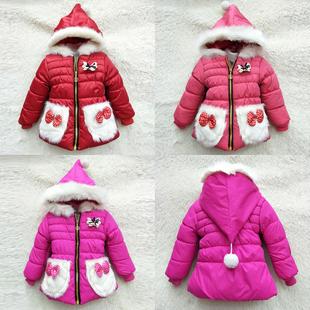 阿里巴巴童装批发厂家直销直地摊货源冬装女童加绒加厚棉衣外套