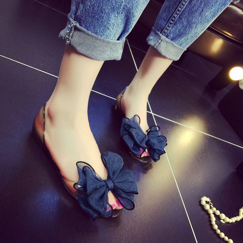 蝴蝶结凉鞋潮
