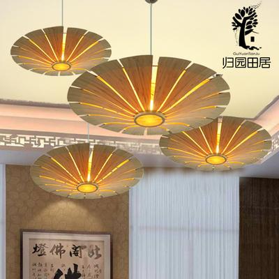 新中式吊灯挑高客厅灯日式餐厅茶室竹灯具特色手工造型灯创意吊灯领取优惠券