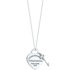 【直营】Tiffany & Co./蒂芙尼Heart Tag with Key项链26909686