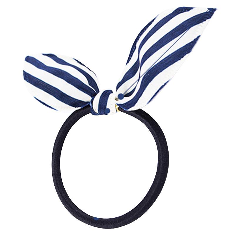 小清新波点头绳发饰发夹发箍发带兔耳朵条纹发圈橡皮筋发绳5条装
