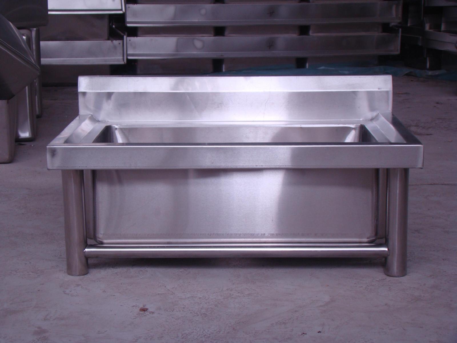 不锈钢水池水槽单槽双槽洗刷池加厚商用酒店食堂学校专用长条水池