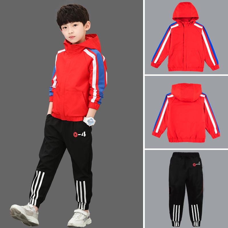 童装男童春装套装2019新款春款儿童中大童男孩运动两件套韩版潮衣