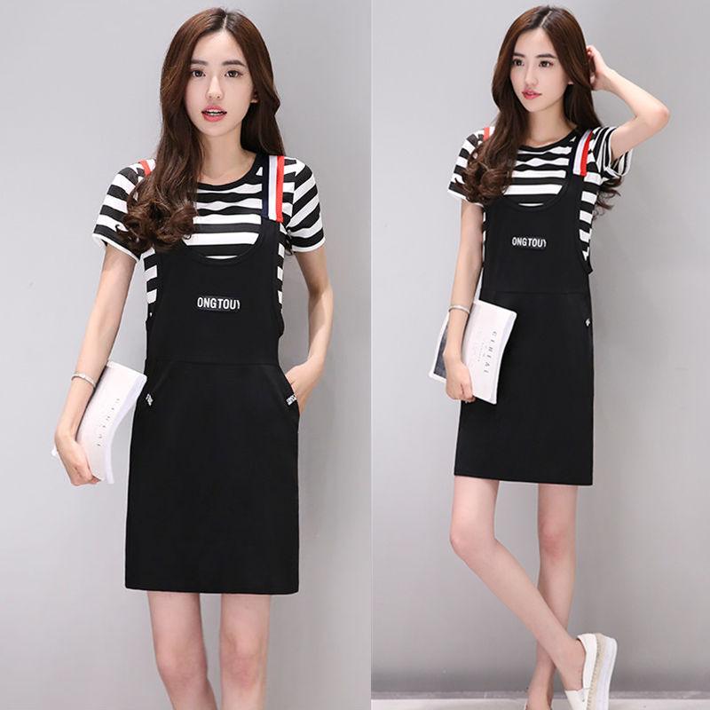 黑色連衣裙夏顯瘦包臀