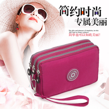 假日情人新款手机包手包大容量长款女包多层零钱包纯色大屏手机包