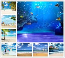 摄影海景背景布影楼拍照背景纸大海沙滩背景海底世界背景布超真