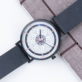 Traditional culture 12 o'clock eight stars eight twenty four solar energy expert gift watch waterproof quartz watch male