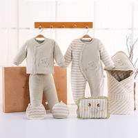 Autumn and winter color cotton padded cotton clothes baby clothes gift box newborn cotton set 0-3 months 6 maternal and child supplies