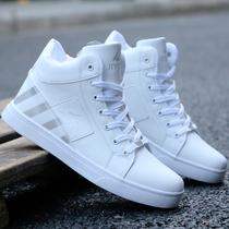 秋冬鞋子男白鞋韩版潮流小白鞋运动休闲鞋百搭潮鞋白色平板鞋男鞋