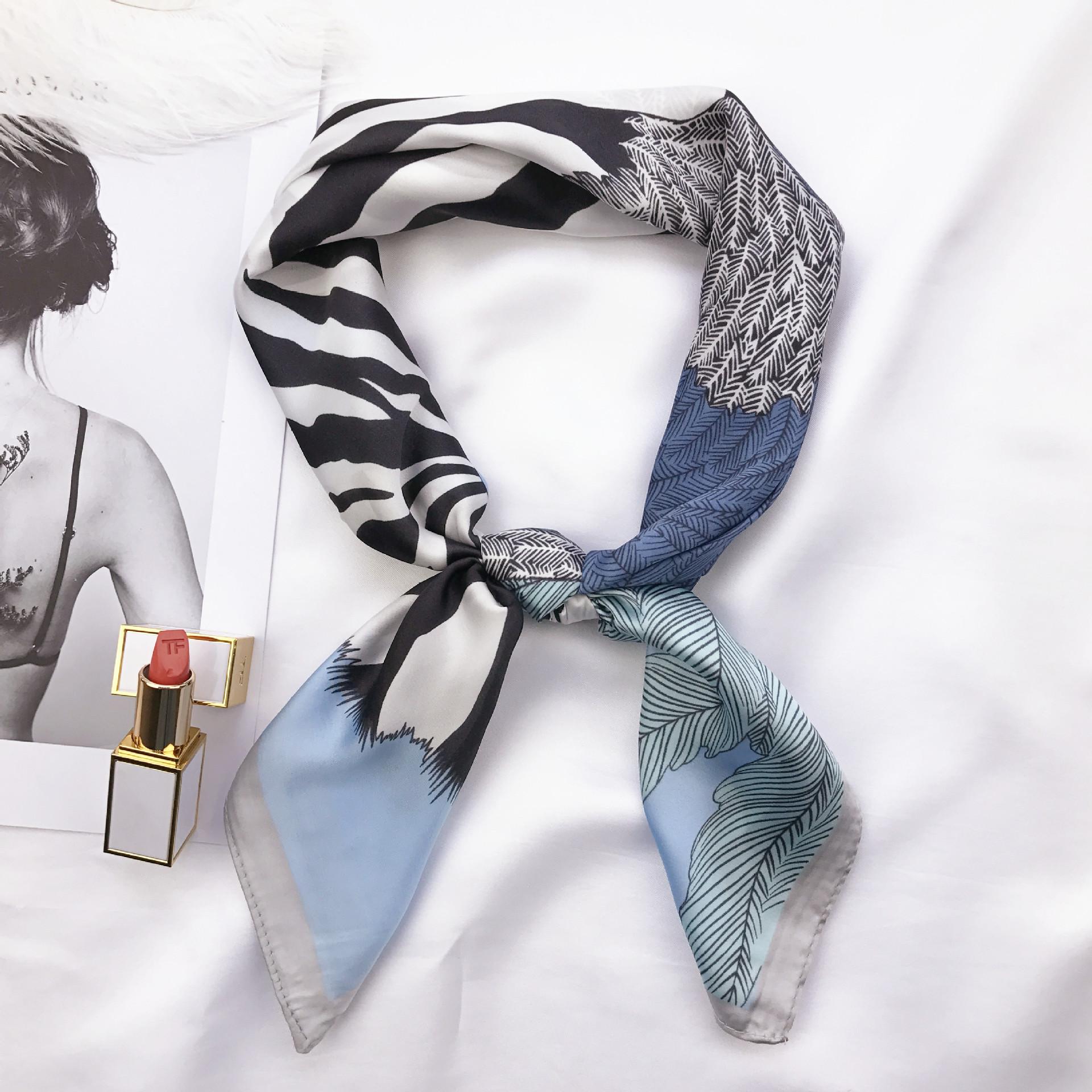 斑马条纹围巾