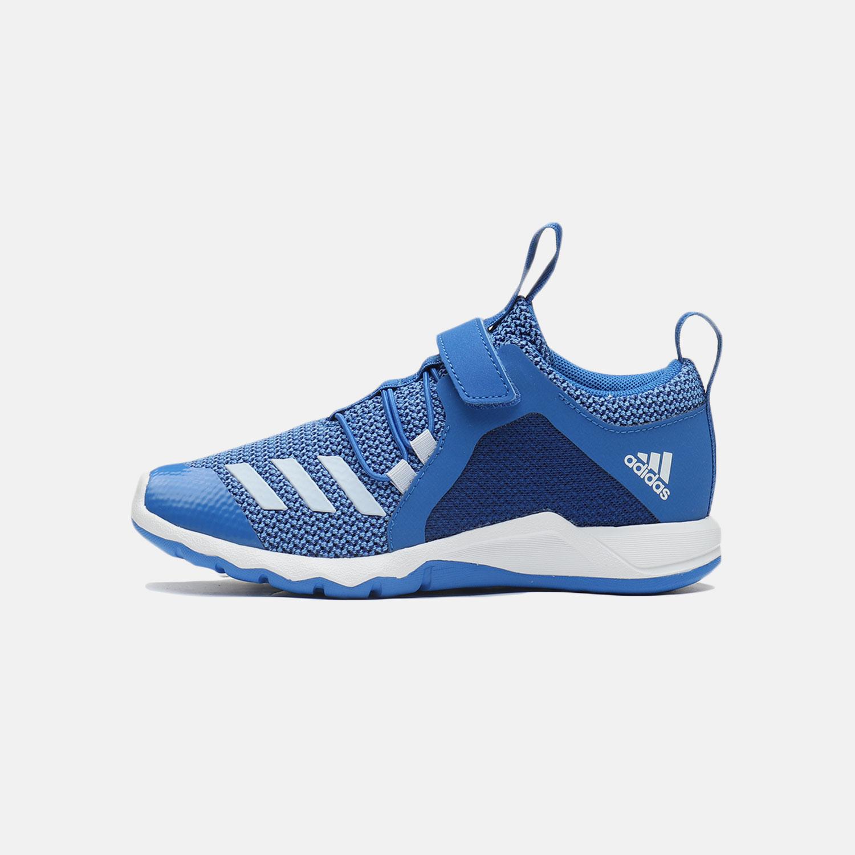 阿迪达斯男童儿童鞋2019新款魔术贴透气跑步休闲运动鞋D97604