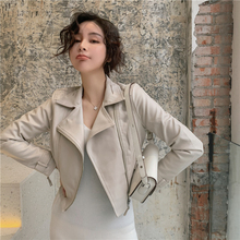 Pu leather jacket for new spring wear locomotive in 2019