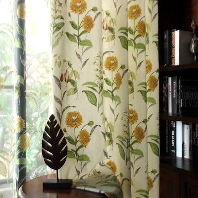 定制 美式乡村印花成品窗帘窗纱卧室客厅罗马帘半遮光 太阳徽排行榜