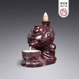 Ebony rosewood back incense burner creative wooden Zen indoor home sandalwood tea ceremony agarwood furnace Buddha ornaments