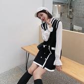 杨沫沫 秋季套装 毛线裙套装 毛衣背心裙两件套 裙女名媛小香风时尚
