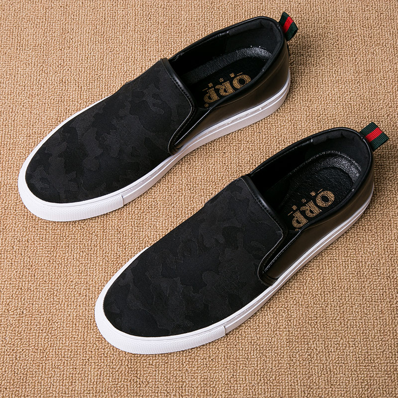 低帮内增高板鞋