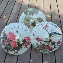 三曼多不防雨纸伞古典牡丹梅花迷你小纸伞幼儿园小号装饰伞道具伞