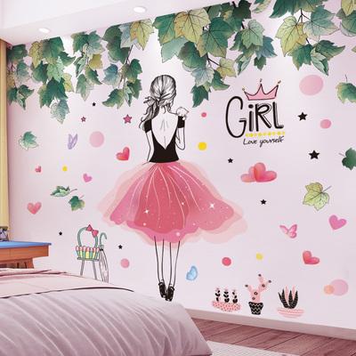 房間改造網紅神器ins風出租屋租房臥室裝飾少女房墻壁紙貼畫自粘