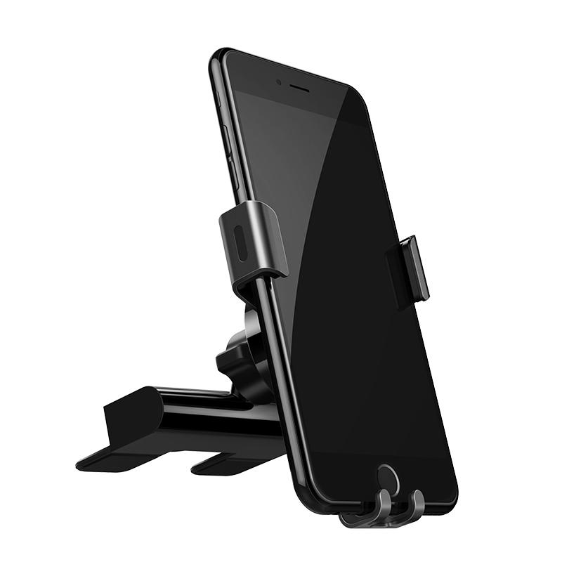 绿联重力感应车载支架CD口创意卡扣式导航手机支撑汽车出风口支架