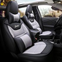 新款汽车座套四季通用亚麻布艺坐垫夏季全包男女专用可爱卡通座垫