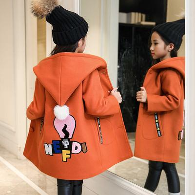 6女童毛呢外套加厚2018秋冬装新款儿童呢子大衣8中长款12大童15岁