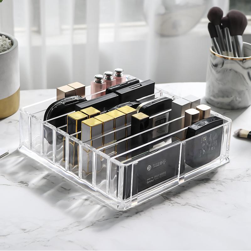 粉饼眼影收纳盒气垫口红化妆品收纳盒腮红彩妆香水整理抽屉置物架