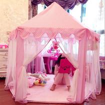 Bébé princesse château fille rose à lintérieur des jouets des enfants de la tente de jeu maison Maison de la famille de lit artefact Château