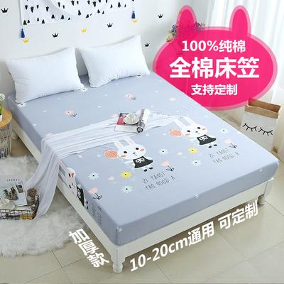 纯棉卡通床笠单件90x100x120x135x150x180x190x200全棉床罩定制