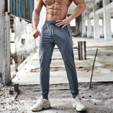 Tie Wolf Summer Thin Sports Pants Men's Small Feet Loose, Quick-drying, High-elastic Leisure Pants Nine-point Closed Fitness Pants