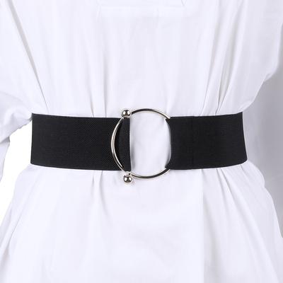 腰封束腰女士装饰外搭复古松紧黑色宽腰带简约百搭时尚配连衣裙子
