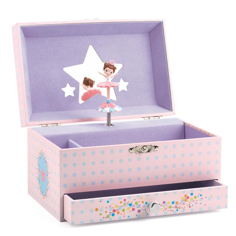 直邮 法国DJECO代购首饰/储物可爱唯美音乐盒玩具礼物4+ 4款