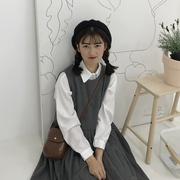秋款连衣裙2018新款秋季学生中长款韩版毛呢chic背心娃娃裙女长裙